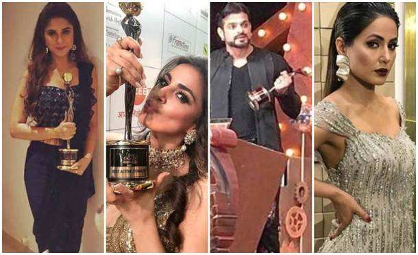 zee gold awards 2018 hina khan karan patel 820