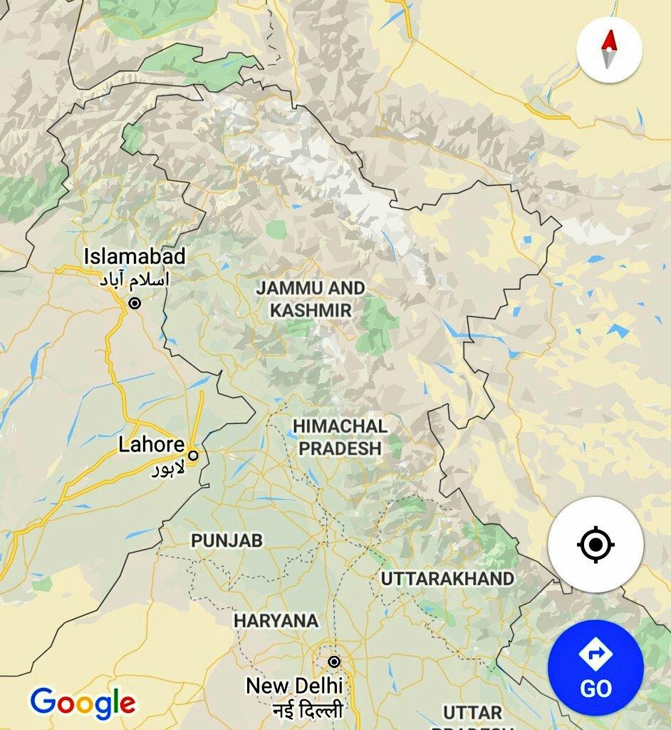 Map of kashmir valley