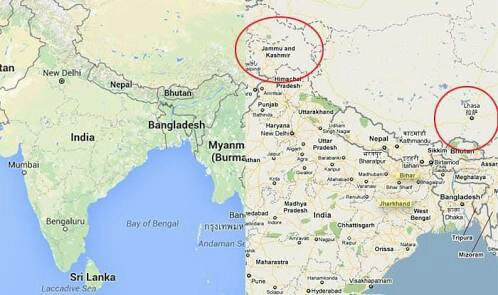 Google map of india Loc