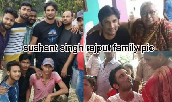 sushant singh rajput family pic