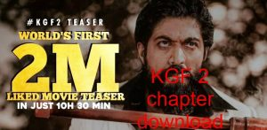 KGF 2 chapter download